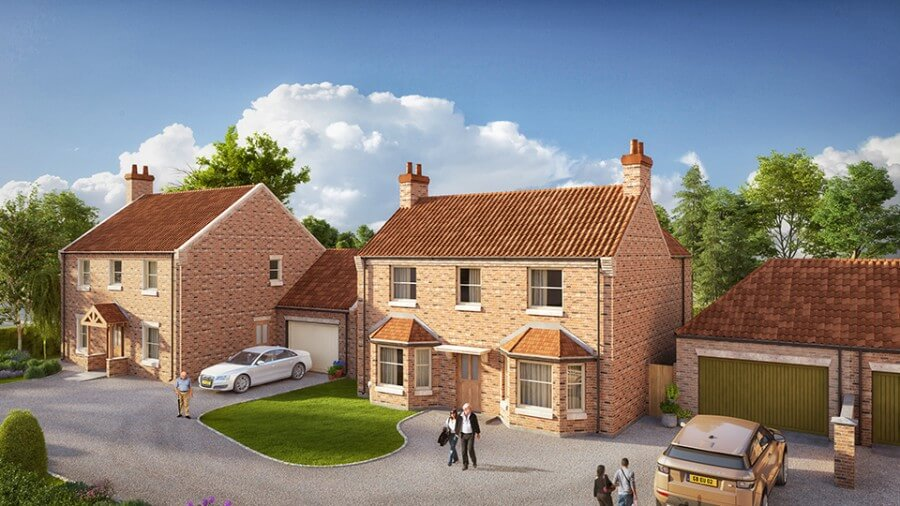New 4 bedroom properties now under construction at Sturton-le-Steeple